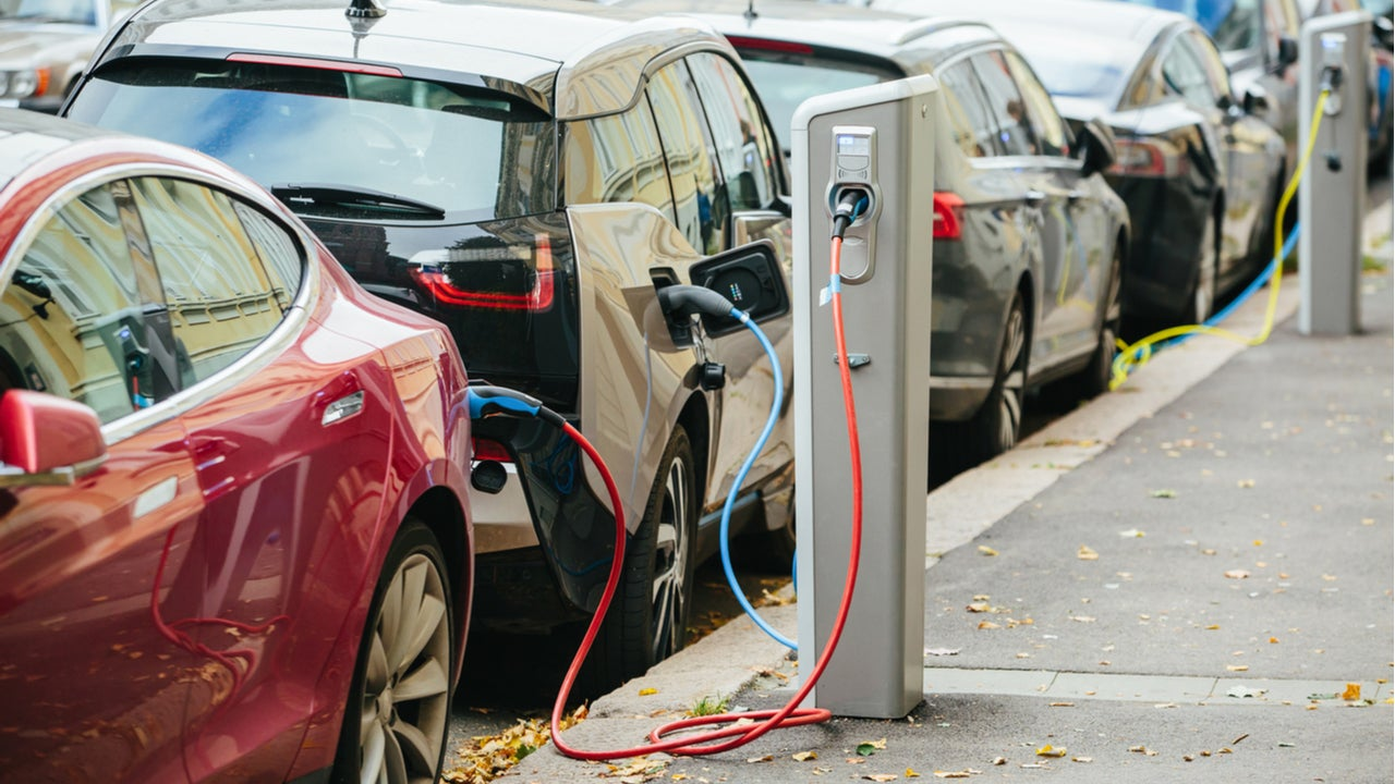 Electric cars charge while parked