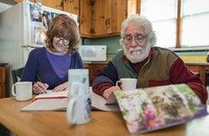 Couple doing loan paperwork