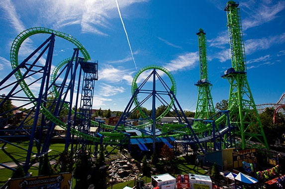 No. 10: Six Flags New England (Agawam, Massachusetts)   Photo courtesy of Six Flags New England