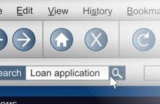 Internet browser loan application in search bar © Fotolia.com