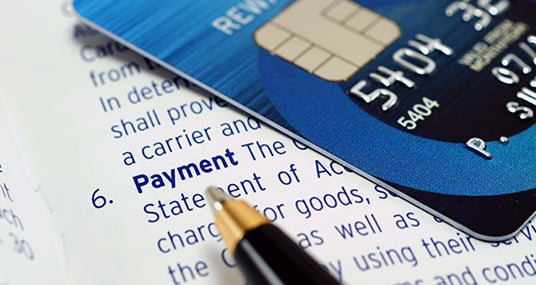 Blue credit card and statement © Phumphao Sumrankong/Shutterstock.com