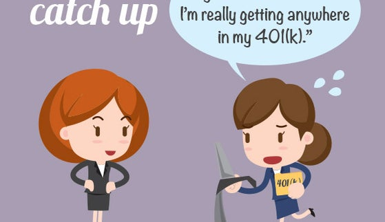 Cant catch up   Illustrated women © Sungchul77/Shutterstock.com