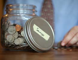 You're less likely to dip into savings
