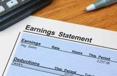 Earnings statement © iStock