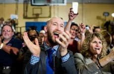 Crowd clapping during convention   The Washington Post/Getty Images