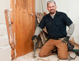 Smiling contractor