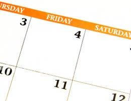 Use your calendar