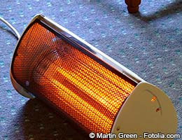 A portable space heater may work for you