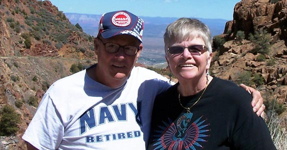 John and Kathy Huggins, RVers | Photo courtesy of John and Kathy Huggins