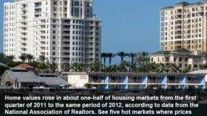 Home values: 5 best markets for Q1 2012