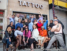 Wear that logo with pride © Photo courtesy of Rapid Realty NYC