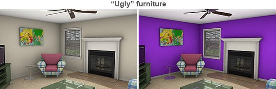 'Ugly' furniture staged rooms © Photo courtesy of Michael Seiler, College of William & Mary