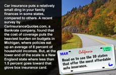 10 most affordable states for auto insurance