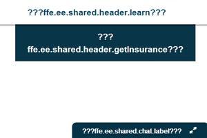 Error message received on HealthCare.gov