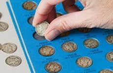 Old dime collection from 1940s   leezsnow/E+/Getty Images