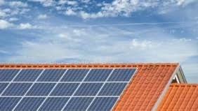Does a new roof count toward a tax credit on a solar energy system?