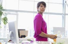 Woman working in bright, open office space   Hero Images/Getty Images