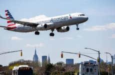 American Airlines flight landing