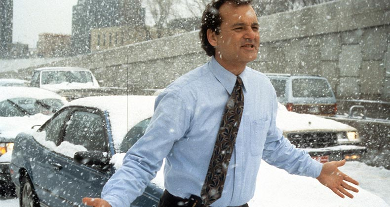 Bill Murray in the movie, Groundhog Day   Archive Photos/Getty Images