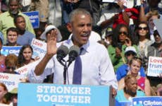 President Obama in Democratic rally   Anadolu Agency/Getty Images