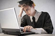 Frustrated grad student at laptop © olly - Fotolia.com