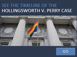 See the timeline of the Hollingsworth v. Perry case
