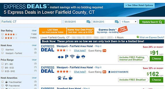 Check opaque and bidding sites | Priceline