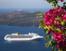 Cruise ship in Mediterranean sea