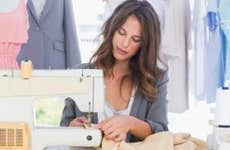 Woman sewing at home | ESB Professional/Shutterstock.com