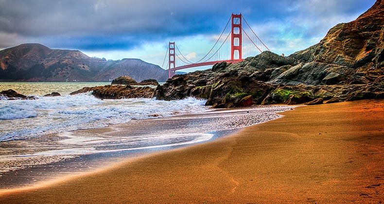 San Francisco bridge and river shore | oshua Bozarth/GettyImages