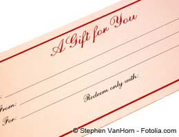 Sell gift certificates