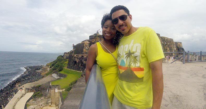 Money Makeover winner Torrie Maas and husband Jason on vacation | Courtesy of Torrie Maas