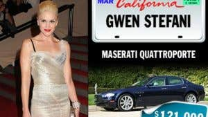 Celebrities and their rides: Gwen Stefani