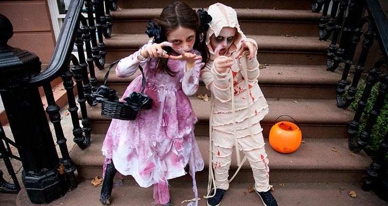 Children dressed as zombies   Neil Beckerman/Getty Images