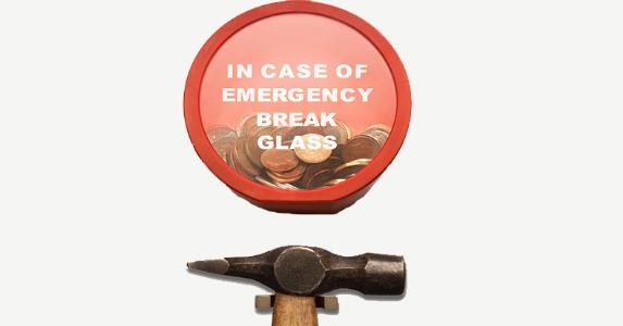 In case of emergency, break emergency savings fund | Creative RF/Getty Images