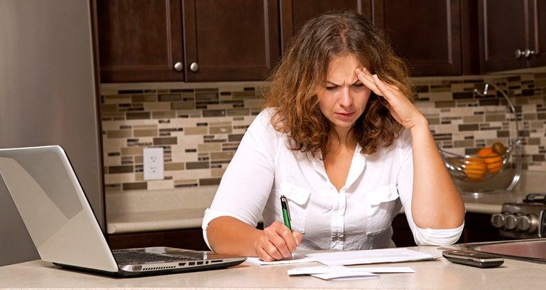 Woman concerned over debts © iStock
