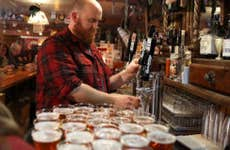 Bartender pouring a draft beer   Justin Sullivan/Getty Images