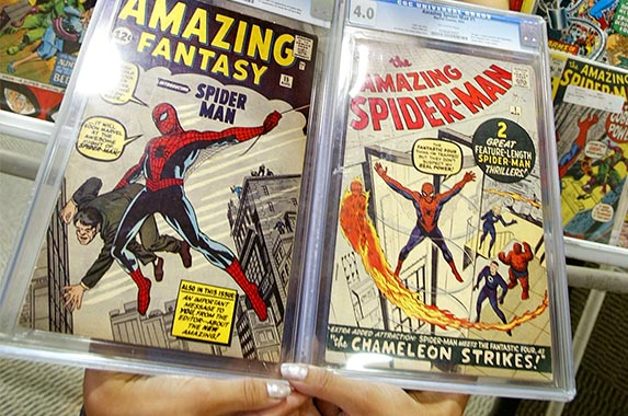 Spider-Man first edition cover poster signed by Stan Lee | Mario Tama/Getty images