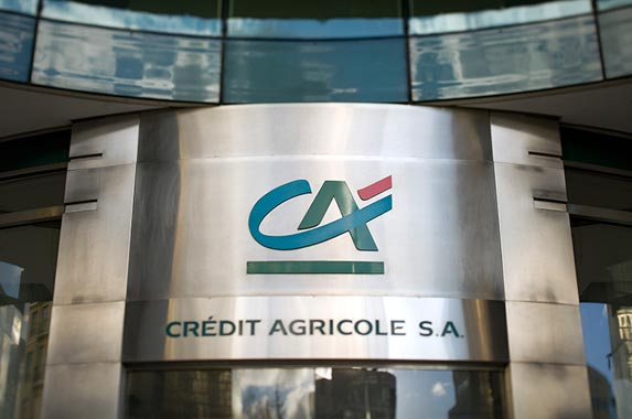 Credit Agricole Group | LIONEL BONAVENTURE/AFP/Getty Images
