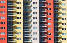 Big and colorful condominium complex