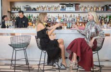Women drinking in Centurion Lounge