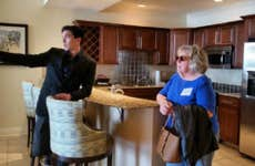 Realtor doing a house showing