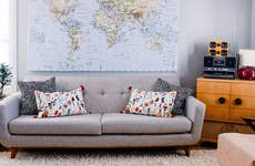 Livingroom with midcentury modern furniture