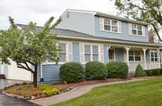 Blue house on the corner