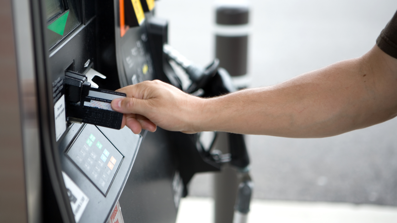 Paying for gas with a card