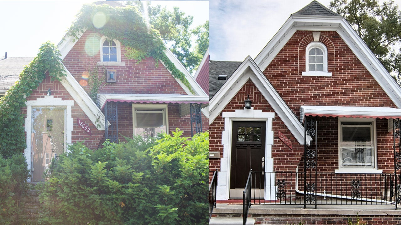 Before and after of home in Detroit