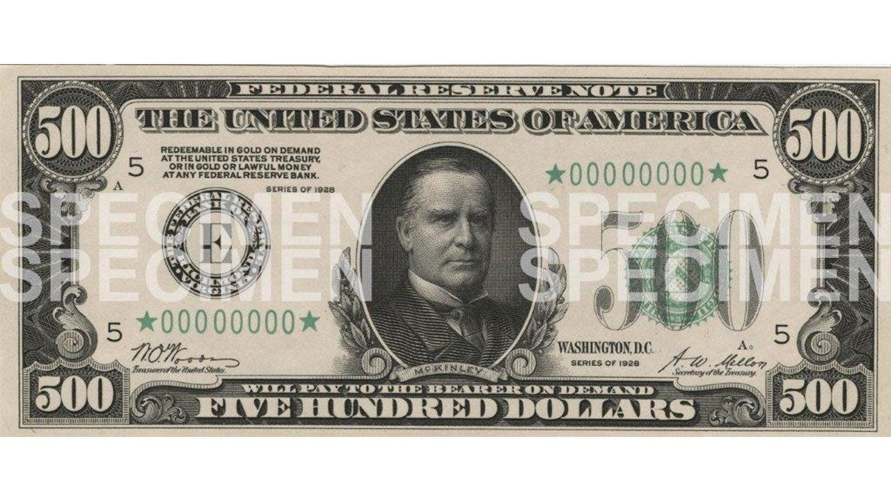 $500 Series bill