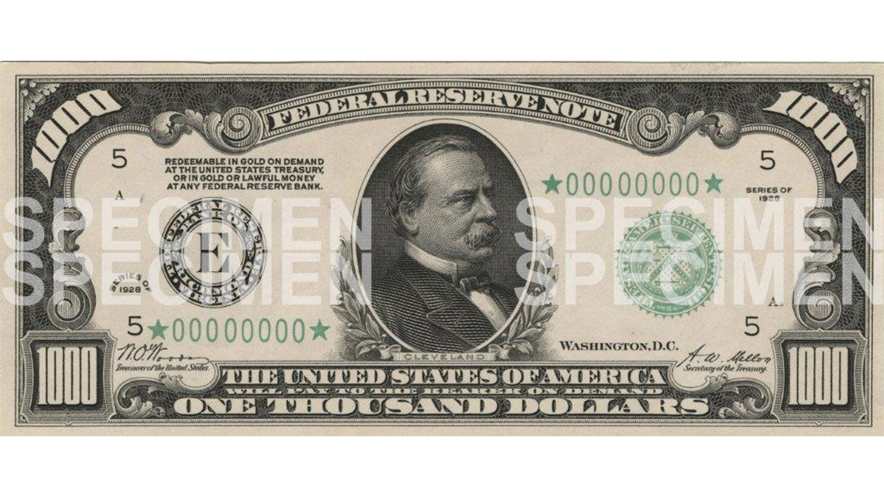 Grover Cleveland $1000