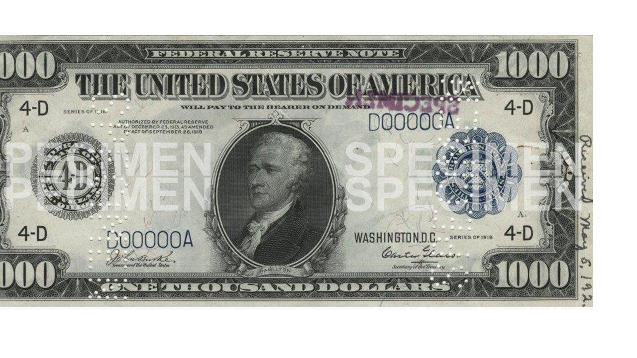 Alexander Hamilton $1000