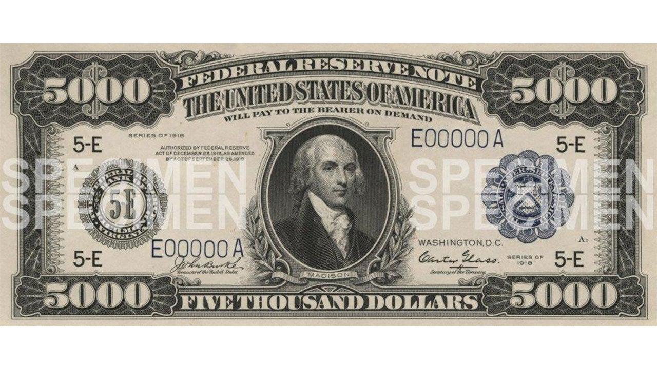 James Madison $5000